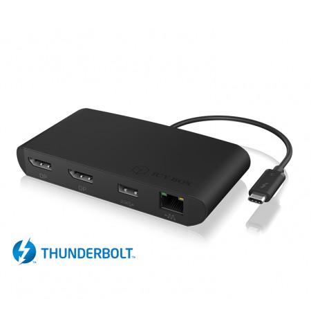 Raidsonic Icy Box Thunderbolt 3 DockingStation with dual DisplayPort interface IB-DK406-TB3