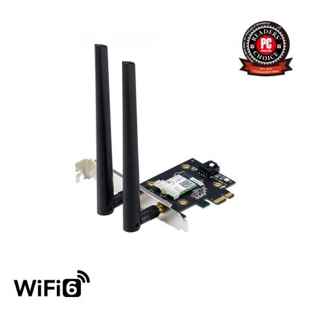 ASUS PCE-AX3000 (802.11ax) AX3000 Dual-Band PCIe Wi-Fi 6 Asus 2 external antennas Bluetooth 5.0, WPA3 network security, OFDMA an