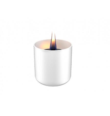Tenderflame Table burner Lilly 1W Glass Diameter 8 cm, Height 7.5 cm, 150 ml, 4.5 hours, White