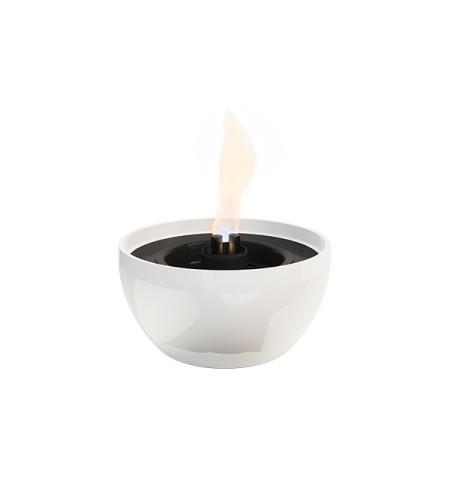 Tenderflame Table burner Rose 3W Porcelain Diameter 14 cm, Height 7.5 cm, 300 ml, 4-5 hours, White