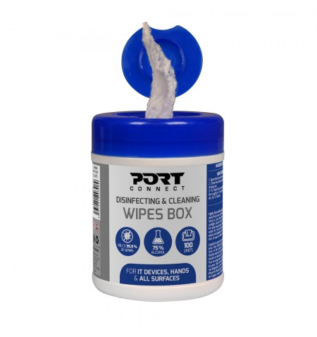 PORT DESIGNS Disinfecting and Cleaning Wipes Box 100 units