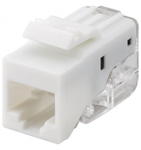 Goobay 95739 Keystone module RJ45 CAT 5e, UTP, 100 MHz, white