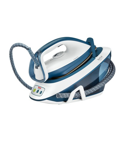 TEFAL Liberty Steam station SV7030 White/Blue, 2200 W, 1.5 L, 5.5 bar, Auto power off, Vertical steam function, Calc-clean funct
