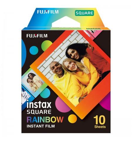 "Fujifilm Instax Square Rainbow (10) Instant Film Quantity 10, 72 x 86 mm, 2.4 x 2.4"" Image Area 3.4 x 2.8"" Print Size, For use w"