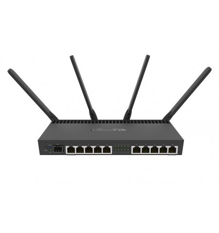MikroTik RB4011iGS+5HacQ2HnD-IN 802.11ac, 10/100/1000 Mbit/s, Ethernet LAN (RJ-45) ports 10, Mesh Support No, MU-MiMO Yes, No mo
