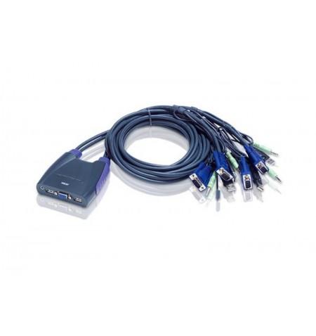 Aten 4-Port USB VGA/Audio Cable KVM Switch