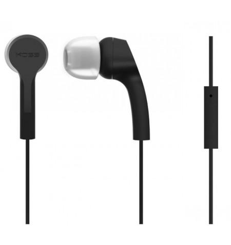 Koss Headphones KEB9iK In-ear, 3.5mm (1/8 inch), Microphone, Black,