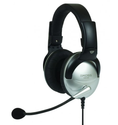 Koss Headphones SB45 Headband/On-Ear, 3.5mm (1/8 inch), Microphone, Silver/Black, Noice canceling,