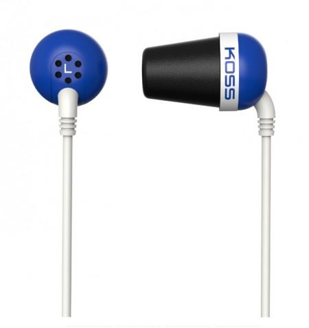 Koss Plug In-ear, 3.5 mm, Blue, Noice canceling,