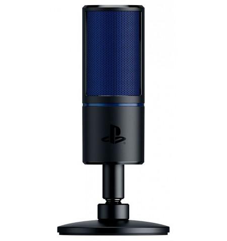 Razer Seiren X Cardioid Condenser Microphone, 3.5 mm, Black, blue, Zero-latency 3.5 mm headphone monitoring port
