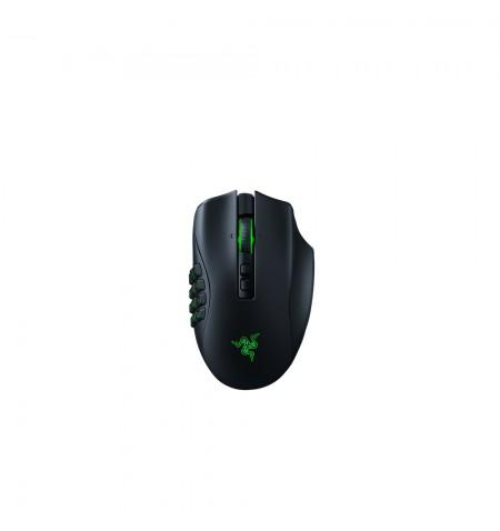 Razer Gaming Mouse Naga Pro RGB LED light, Wireless connection, Optical mouse, Black, 2.4 GHz USB receiver, Bluetooth
