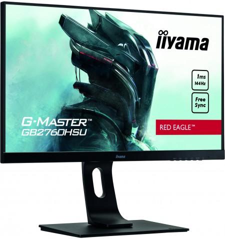 "Iiyama Gaming Monitor G-Master GB2760HSU-B1 C 27 "", TN, 1920 x 1080 pixels, 16:9, 1 ms, 400 cd/m , Black, matte, HDCP, Headphone"