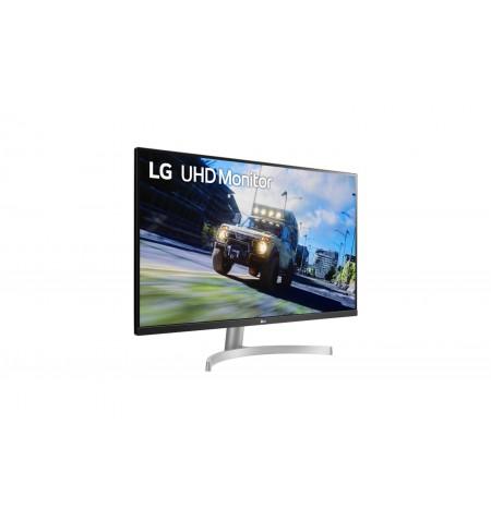 "LG Monitor with FreeSync 32UN500-W 31.5 "", VA, 4K UHD, 3840 x 2160 pixels, 16:9, 4 ms, 350 cd/m , Black/Silver/White"