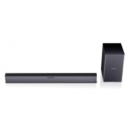 Sharp HT-SBW182 2.1 Slim Soundbar HDMI, Optical, Bluetooth, 160 W, 74 cm with Wireless Subwoofer