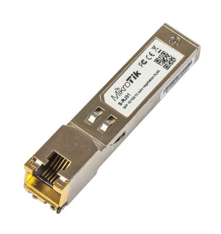 MikroTik S-RJ01 SFP, Copper, RJ-45, 10/100/1000 Mbit/s, Maximum transfer distance 100 m, 0 to +85C