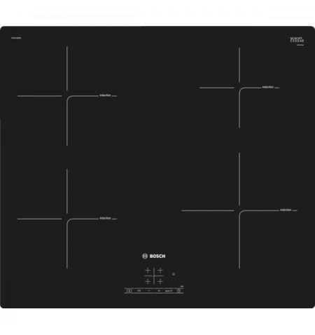Bosch Serie 4 Induction hob PIE601BB5E Induction, Number of burners/cooking zones 4, TouchSelect Control, Timer, Black