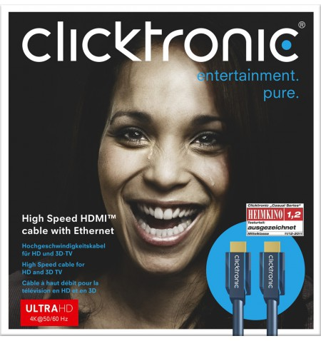 Clicktronic 70302 High Speed HDMI cable with Ethernet, 1,5 m Clicktronic