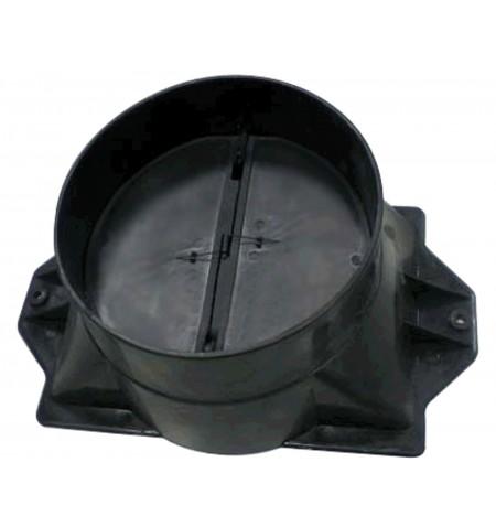 CATA Hood accessory Adaptor + Check Valve 02832004 for LEGEND/SYGMA/SELENE/GAMMA/GOYA/THALASSA/ATENEA/BIBLOS/GC DUAL, Black