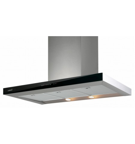 Hood CATA LEGEND 900XGBK Wall mounted, Width 90 cm, 710 m /h, Stainless steel + Black glass, Energy efficiency class A+, 64 dB