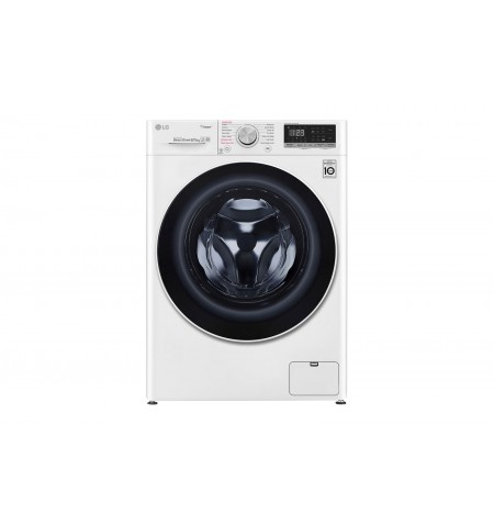 LG Washing machine with dryer F4DN408S0 A, Front loading, Washing capacity 8 kg, 1400 RPM, Depth 56 cm, Width 60 cm, Display, LE