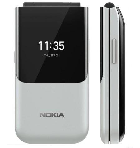 "Nokia 2720 Flip 2.8 "", Nordic Grey, TFT, 240 x 320 pixels, Qualcomm MSM8905 Snapdragon 205, Dual SIM, 2, Nano-SIM, 4.2, Internal"