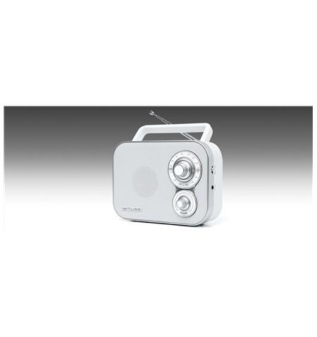 Muse Portable Radio M-051RW White, AUX in
