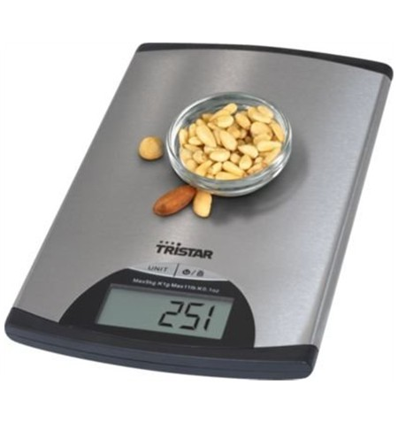 Tristar Kitchen scale KW-2435 Maximum weight (capacity) 5 kg, Metallic