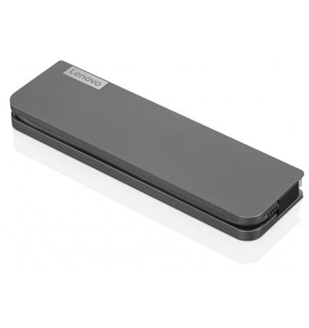 Lenovo USB-C Mini Dock - Overview and Service Parts, max 1 displays, Ethernet LAN (RJ-45) ports 1, USB 3.0 (3.1 Gen 1) ports qua
