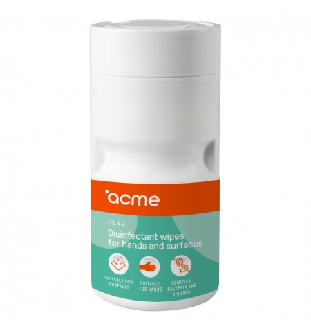 Acme CL42 Desinfectant Cleaning Tissue for Hand and Surface, 100 pc(s)