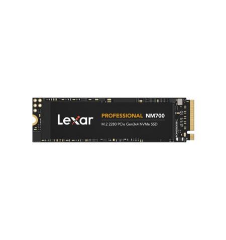 Lexar NVMe SSD Professional NM700 1TB GB, SSD form factor M.2 2280, SSD interface PCIe Gen3x4, Write speed 2000 MB/s, Read speed