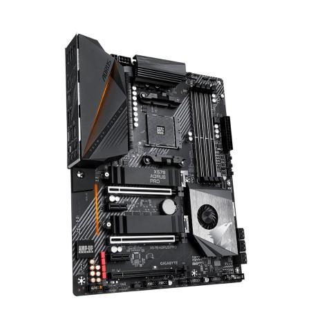 Gigabyte X570 AORUS PRO Processor family AMD, Processor socket AM4, DDR4, Memory slots 4, Number of SATA connectors 6 x SATA 6Gb