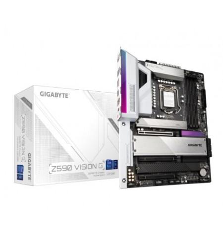 Gigabyte Z590 VISION G Processor family Intel, Processor socket Socket 3, DDR4 DIMM, Memory slots 4, Number of SATA connectors 6