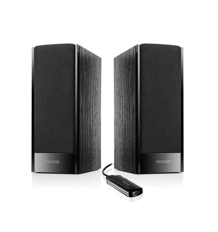 Microlab B-56 Speaker type 2.0, 3.5mm, Black, 3 W