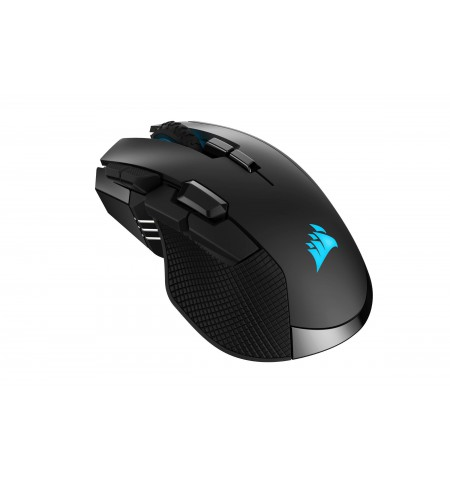 Corsair IRONCLAW RGB WIRELESS Wireless / Wired, 18000 DPI, Wireless connection, Rechargeable, Black
