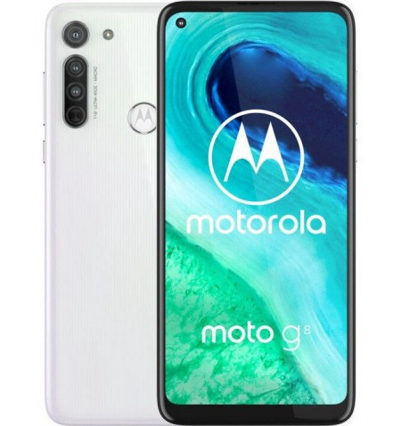 "Motorola Moto G8 White, 6.4 "", IPS LCD, 720 x 1560 pixels, Qualcomm SM6125 Snapdragon 665, Internal RAM 4 GB, 64 GB, microSDXC,"