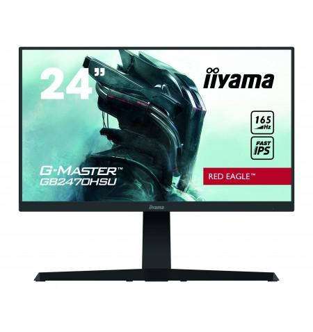 "Iiyama Gaming Monitor GB2470HSU-B1 24 "", IPS, 1920 x 1080 pixels, 16:9, 0.8 ms, 250 cd/m , Matte, black, HDCP, Headphone connect"