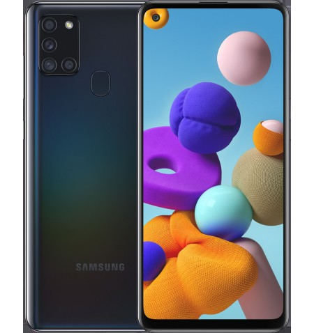"Samsung Galaxy A21s Black, 6.5 "", PLS TFT, 720 x 1600, Exynos 850, Internal RAM 3 GB, 32 GB, microSDXC, Dual SIM, Nano-SIM, 3G,"