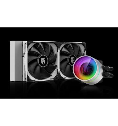 Deepcool Liquid cooler CASTLE 240EX WHITE Intel, AMD