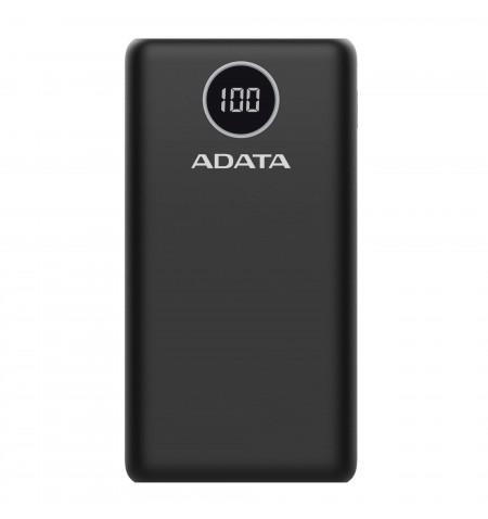 ADATA Power bank P20000QCD 20000 mAh, Li-Polymer, Black