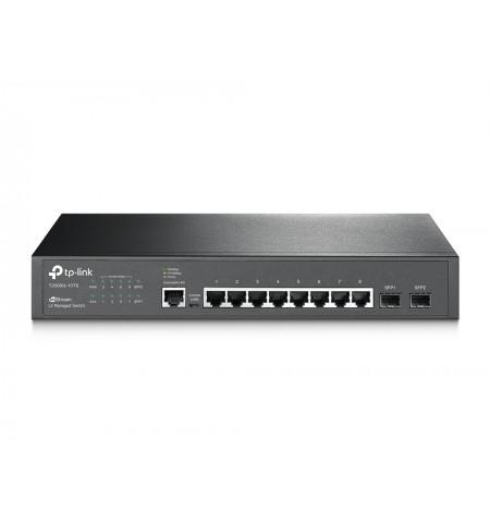 TP-LINK Switch T2500G-10TS (TL-SG3210) Managed L2, Rack mountable, 1 Gbps (RJ-45) ports quantity 8, SFP ports quantity 2