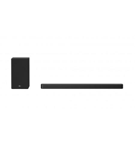 LG 3.1.2 ch Hi-Res Dolby Atmos Soundbar with Meridian Technology SN8Y Bluetooth, Wireless connection, Black, 440 W