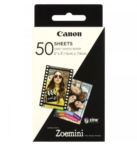 Canon 50 sheets ZP-2030 Photo Paper, White, 5 x 7.6 cm