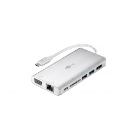 Goobay USB-C Premium Multiport Adapter 49850 Silver, USB Type-C