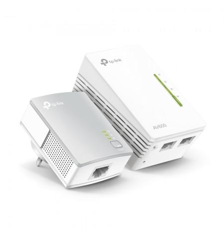 TP-LINK Powerline Wi-Fi Kit TL-WPA4221 KIT 10/100 Mbit/s, Ethernet LAN (RJ-45) ports 2, 802.11n, 2.4GHz, Wi-Fi data rate (max) 6