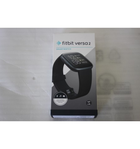 SALE OUT. Fitbit Versa 2 (NFC) Smartwatch, Black/Carbon Aluminum Fitbit Versa 2 Smart watch, NFC, OLED, Touchscreen, Heart rate