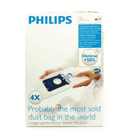 Philips disposable dust bag FC8021/03 Dust Bag 4pcs, AirStar: FC8220 - FC8229 City-Line: FC8400 - FC8439, HR8368 - HR8378 EasyLi